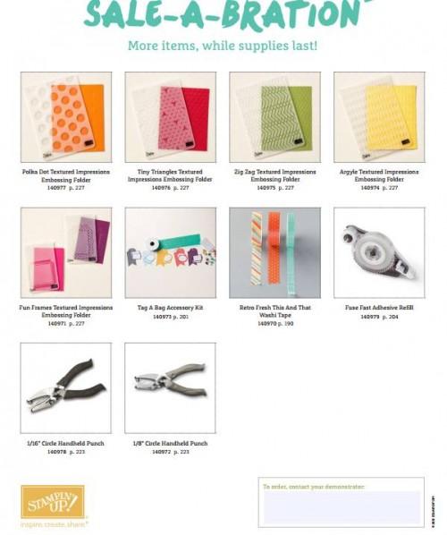 Sale-A-Bration Items