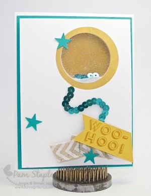 Remarkables Blog Tour - Get Moving featuring a Balloon Shaker Card by Pam Staples