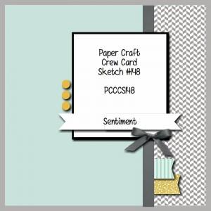 Paper Craft Crew Card Sketch 148. www.papercraftcrew.com