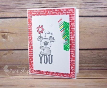 Farewell Kind Koala on the RemARKables Blog Tour. Card created by Pam Staples, sunnygirlscraps. #sunnygirlscraps #stampinup #kindkoala