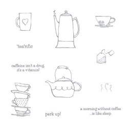 Morning Cup Stamp Set