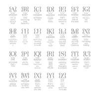 Occasions Alphabet Stamp Set