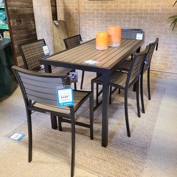 bar counter height patio tables