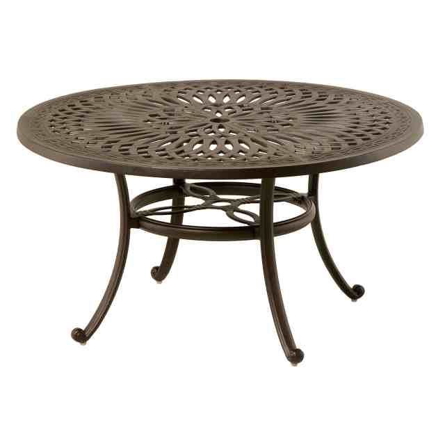 "hanamint mayfair 42"" round coffee table outdoor furniture"