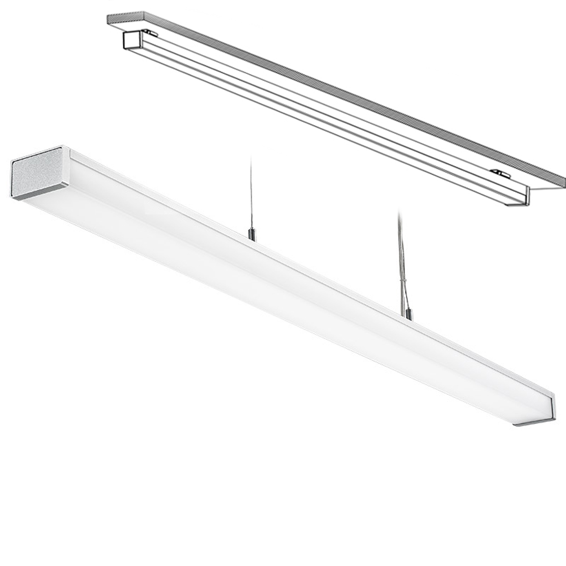 Led 041a Led Ceiling Mounted Linear Light Indoor Lamp For