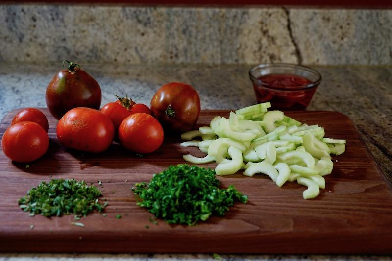 Tomato and Cucumber Salad with Oregano Vinaigrette