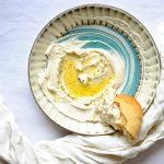Vegan Labneh Paleo, Gluten Free) and Fresh Pita (Vegan)