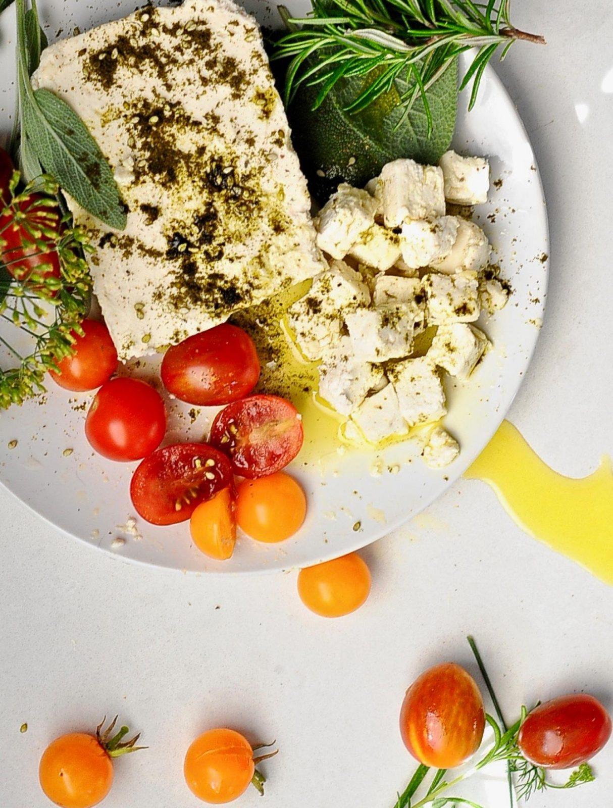 Vegan Feta Cheese Recipe, Almond Based