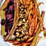 Cider-Glazed winter vegetables