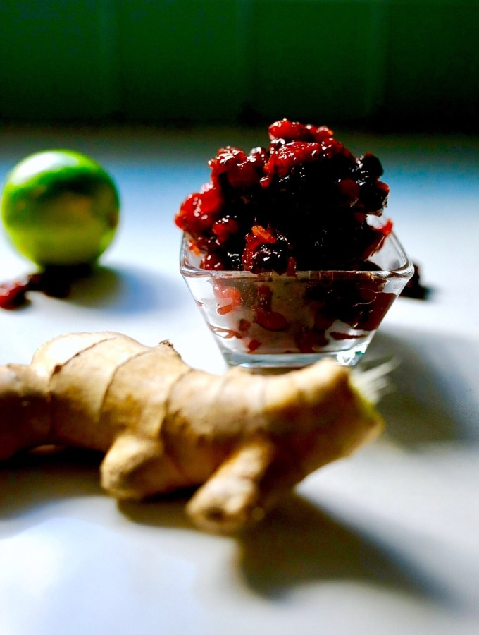 Cranberry Sauce with Ginger and Lime, Vegan, Gluten Free