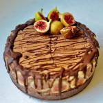 Luscious Vegan Chocolate Mousse Cake (Gluten Free) with figs