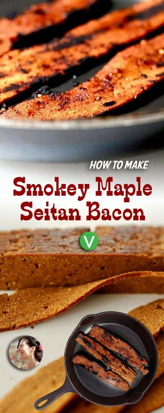 Smokey Vegan Seitan Bacon
