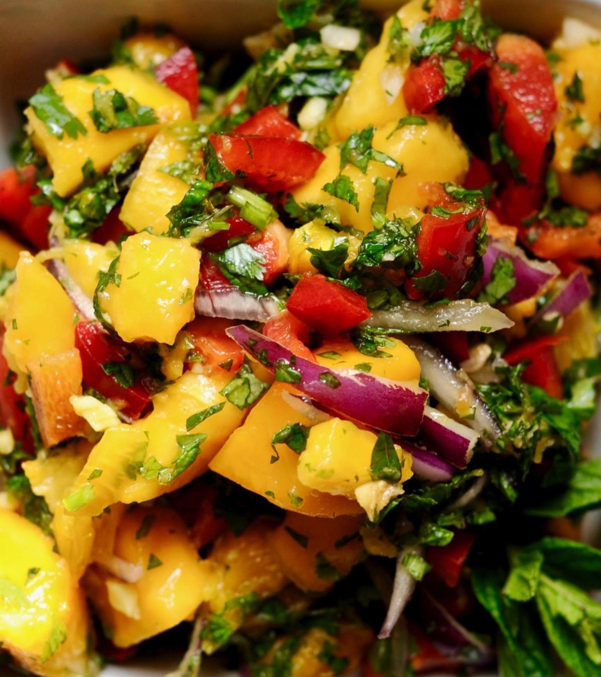 Spicy Ripe Papaya Salad 1