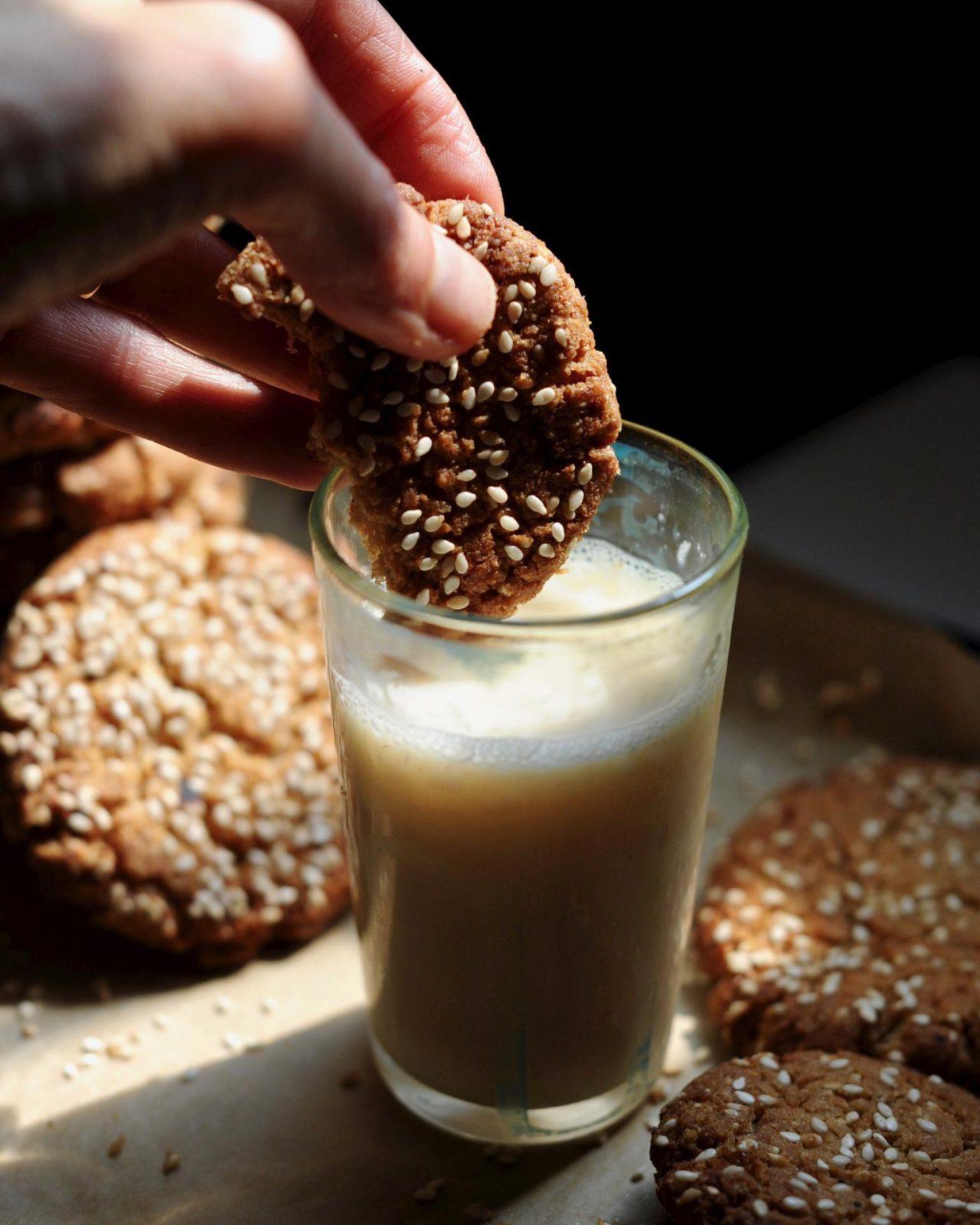 Vegan Lemon Tahini Cookies in 20 minutes flat, (Gluten Free)