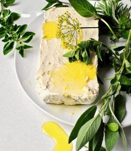 Herb Marinated Almond Feta Vegan