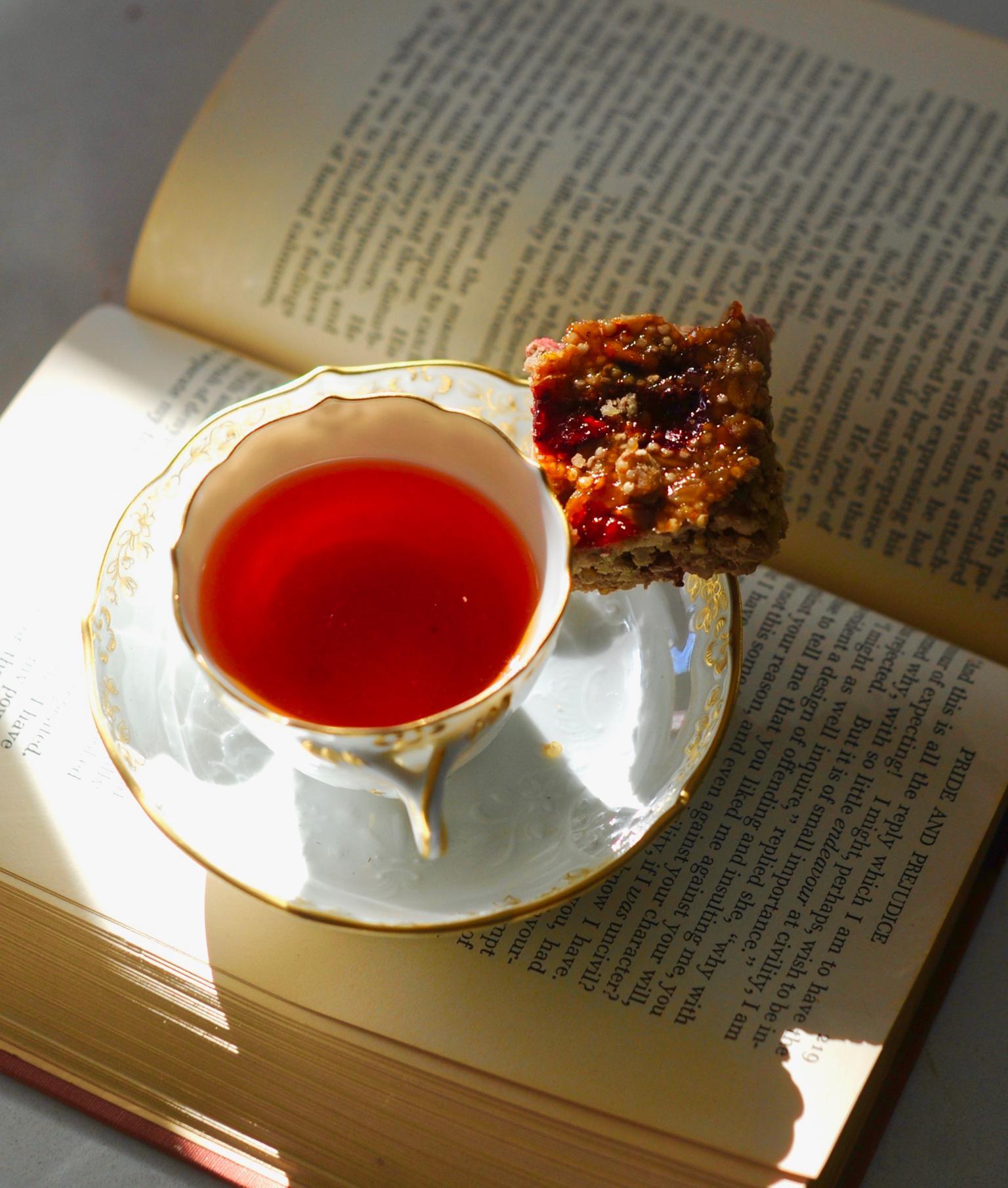 Healthy Strawberries and Cream Granola Bars, Vegan, GF and a book