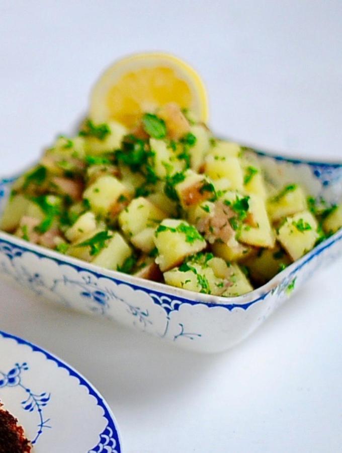 Vegan Lemon Parsley Potatoes