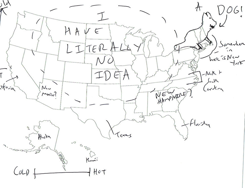 british people naming US states