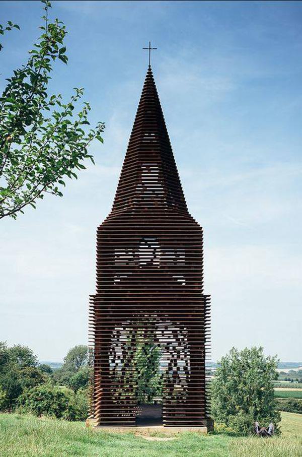 Belgium church see through