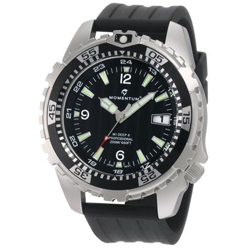 Momentum Men's M1 Deep 6 Dive Watch, Black