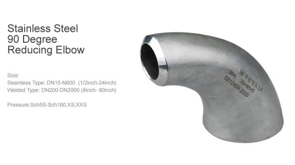 Stainless Steel 90 Degree Reducing Elbow