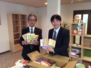 香川の自習室・コワーキングスペースならサンプラット書籍寄贈1-20160105bookkizou1