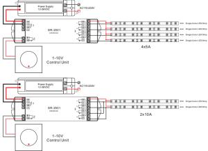 4 Channel Constant Current 0110V LED Dimmer SR2013