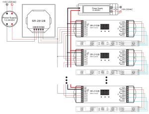 1 Zone Full Touch Control RGBW DMX512 Master SR2812B
