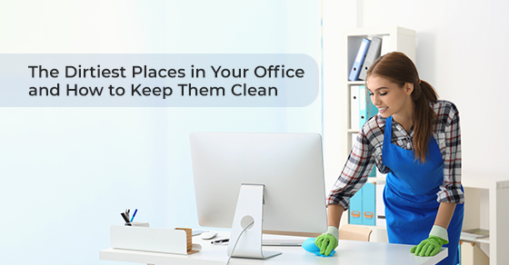 Cleaning dirtiest places in the office