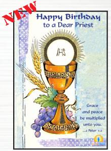 Happy Birthday To A Dear Priest Greeting Card 36089