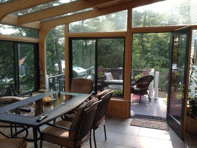 your deck with an all season sunroom