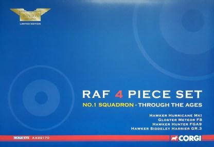 corgi AA99170 RAF 4 PIECE SET