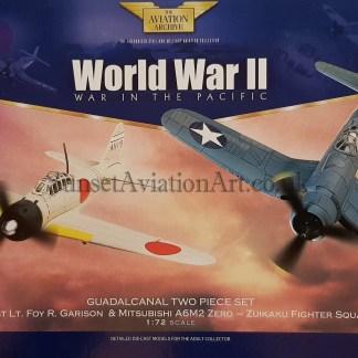 AA99120 Corgi Guadalcanal Two Piece Set Corsair & Mitsubishi Zero