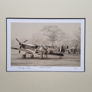 Spitfires of 41 Squadron Pencil Drawing (Stephen Brown Aviation Artist)