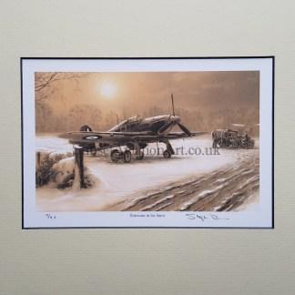 Hurricane in the Snow (Stephen Brown Aviation Artist)