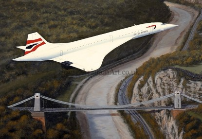 Aviation Greeting card Concorde - Homeward Bound