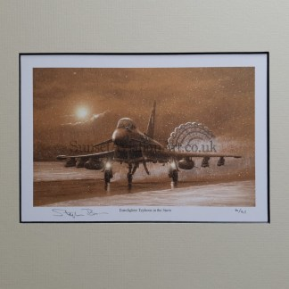 Eurofighter Typhoon in the snow pencil print Stephen Brown