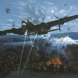 Primary Target Avro Lancaster greeting card