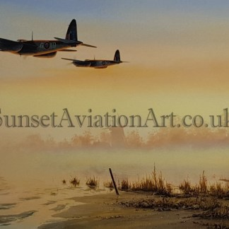 De-Havilland Mosquito Birthday card Quite Moments