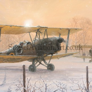 Aviation Christmas card Tiger Moth Those Were the Days