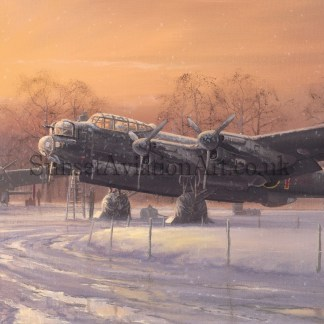 Christmas card Avro Lancaster A Winters Dawn