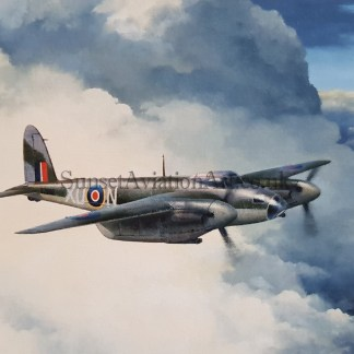 De-Havilland Mosquito En route Birthday card