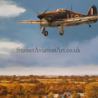 Birthday card Hawker Hurricane legend of the skies