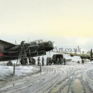 Christmas card Lancaster Bomber Maximum Effort