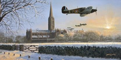 Christmas card Hawker Hurricane Dawn Chorus