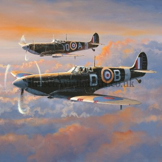 RAF Supermarine Spitfire Patrol Birthday Card