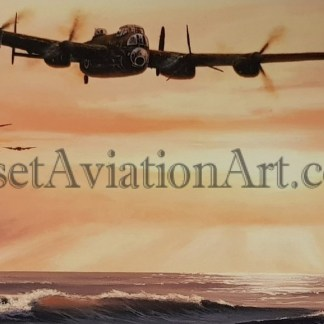 Birthday card Lancaster Bomber touch and go