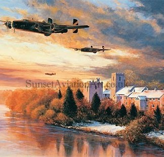 Halifax Bomber Christmas card Welcome Sight