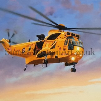 Birthday card Westland Sea king