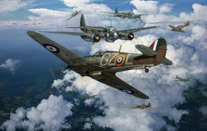 Birthday card Hawker Hurricane Force